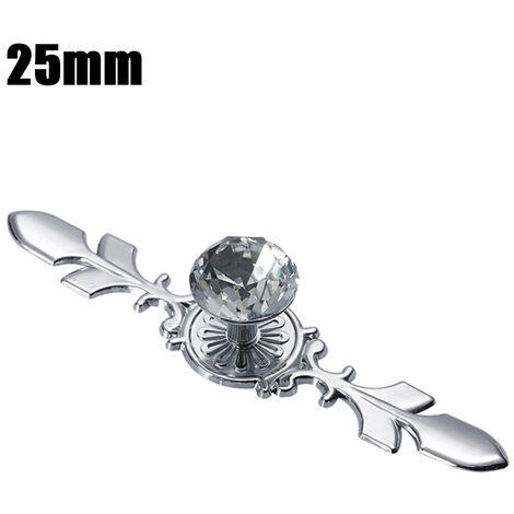 "main image of ""Cabinet Pulls Knob Crystal Glass Ball Handles Diamond Shape Wardrobe Handles Cabinet Hardware 25-40mm"""