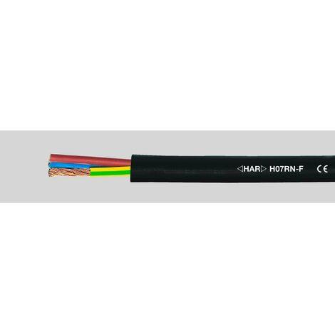 Câble à gaine caoutchouc Helukabel H07 RN-F SW 2x1,5 mm² 37020-100 H07RN-F 2 x 1.50 mm² noir 100 m