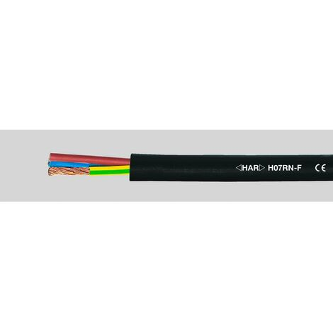 C/âble d/'alimentation avec gaine en caoutchouc pour chantier H07RN-F 3 x 2,5 mm/² 50 m