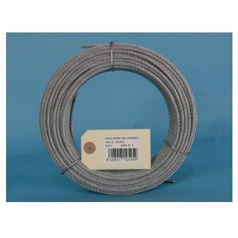 Cable Acero Galvanizado 6X7+1 5Mm Cursol 25 Mt