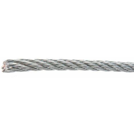 Cable acero galvanizado rollo - varias tallas disponibles