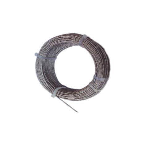 Recubierto de pl/ástico Negro BeMatik Bobina de 50 m Cable de Acero Inoxidable de 1,5 mm