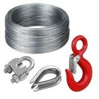 Cable acier 4mm pour treuil le m1011fge180-4mm galva au mêtre