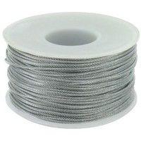 Câble acier galvanisé Levac - Ame textile - Diamètre 2,5 mm - Résistance à la rupture 400 kg
