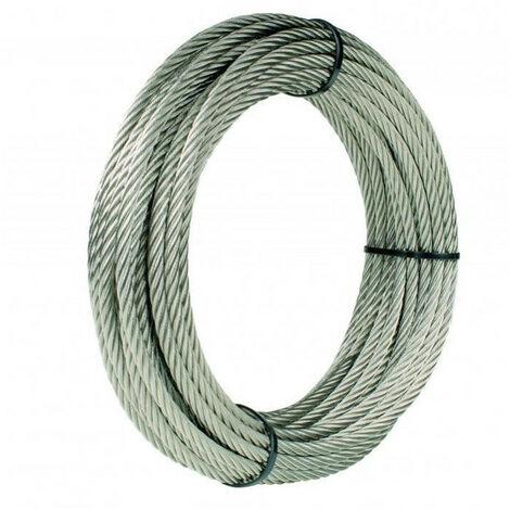 Câble acier galvanisé plastifié transparent GODET - plusieurs modèles disponibles
