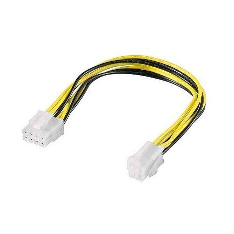 Cable alimentacion interna ATX 4 pin a 8 pin 0.20 M Negro