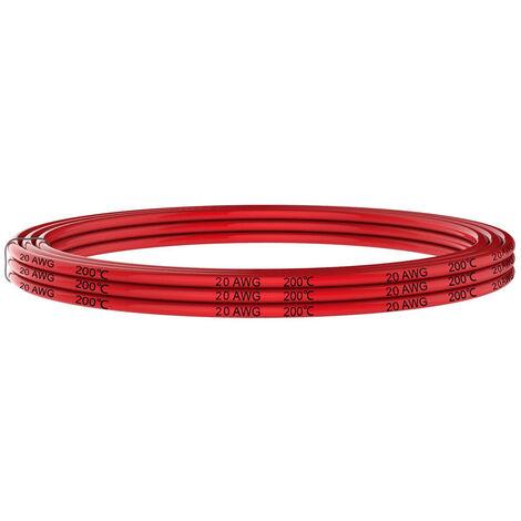 Cable anticalórico silicona 1x0,75mm, 1m, rojo
