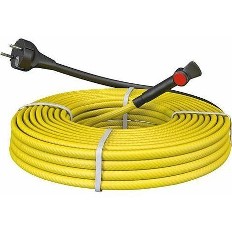 Cable antigel pour tube metal pret a l'emploi avec thermostat 10 m - 100W