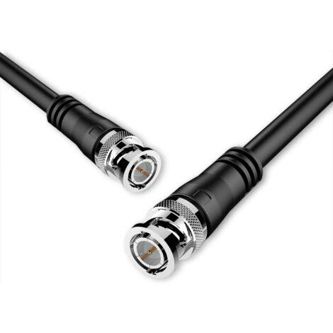 Cable BNC macho RG 59 0.50 M Negro