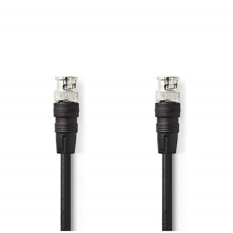Cable BNC macho RG 59 2 M Negro