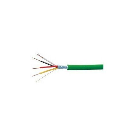 Cable bus KNX longueur 100m vert (TG018)