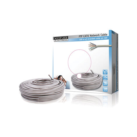 CABLE CAT6E FTP PARES TRENZADOS BLINDADOS 100M