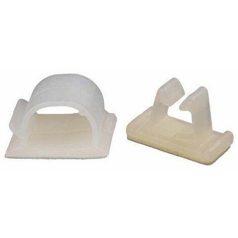 Cable clip self adhesive Plastic Polyamide (nylon) 6.6