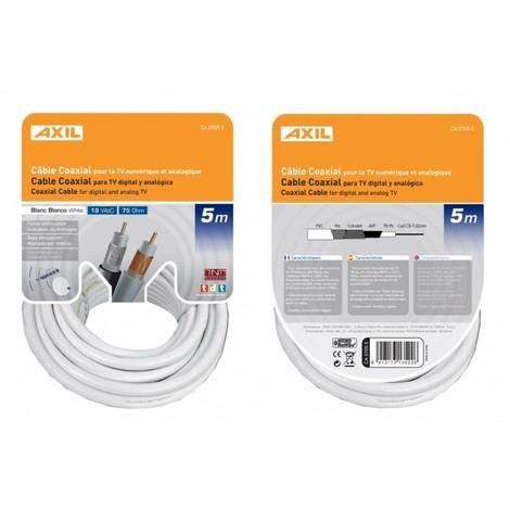 Cable coaxial 19VAtC colgable blanco