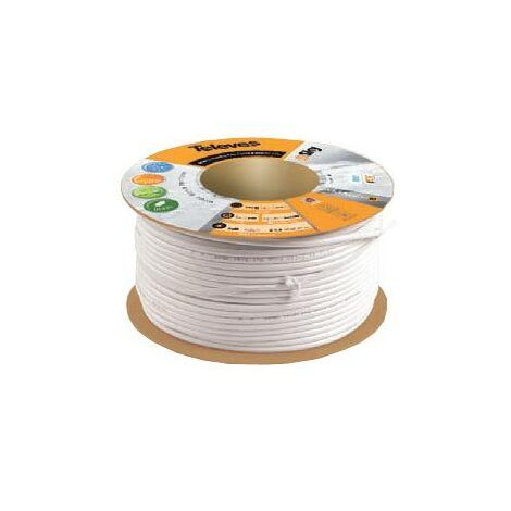 Cable coaxial blanco T100 plus rollo 100 metros Televes