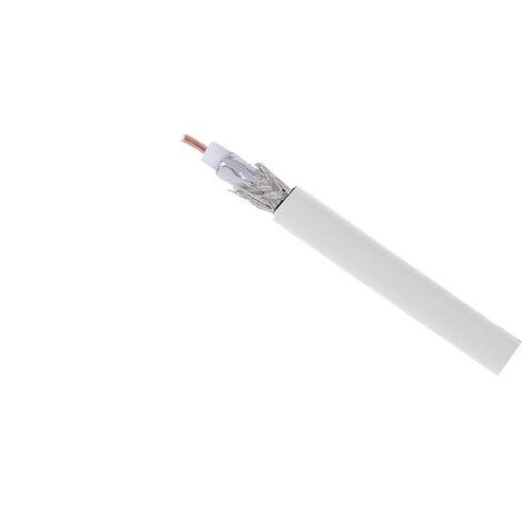 Câble coaxial intérieur blanc