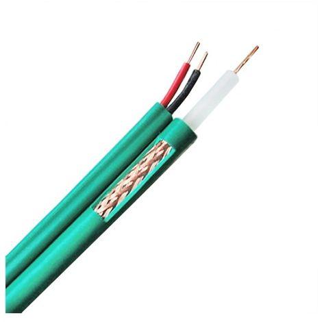Cable coaxial KX6 Vídeo y alimentación Rollo de 300 metros