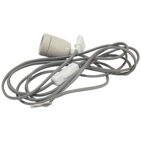 Cable con zócalo E27 y zócalo
