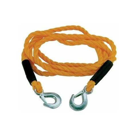 Cable corde de traction et de remorquage avec mousqueton 2 tonnes