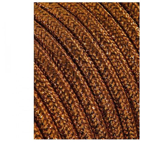 Cable Cordon Tubulaire 2X0.75Mm Marron Brillante 25M - NEOFERR