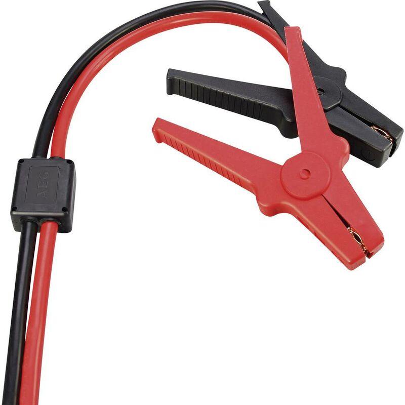Câble de démarrage 20.8 mm² AEG 97215 avec pinces en plastique, avec circuit de protection 3.00 m Aluminium (revêtement