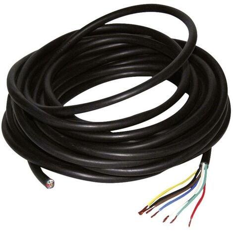 Câble dalimentation 7 fils 0,75² LAS 10 m