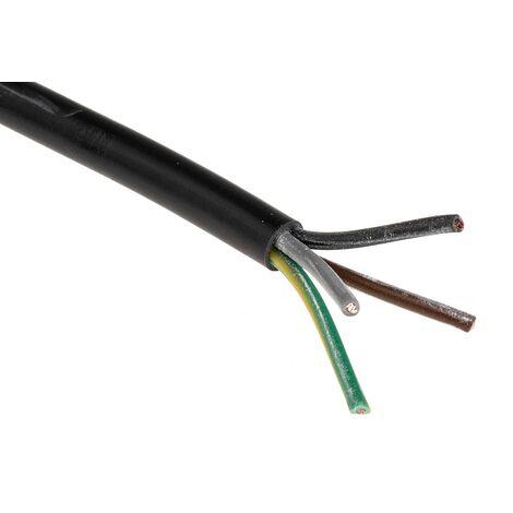 """main image of """"Câble d'alimentation RS PRO 3 x 2,5 mm², 4 mm², Gaine Chlorure de polyvinyle PVC Gris, C 50m"""""""