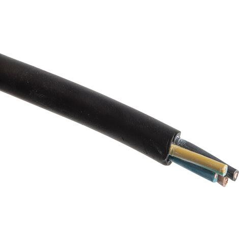 Câble d'alimentation RS PRO 4 x 1,5 mm², Ignifuge, Gaine CPE Noir, 15 AWG, C 50m