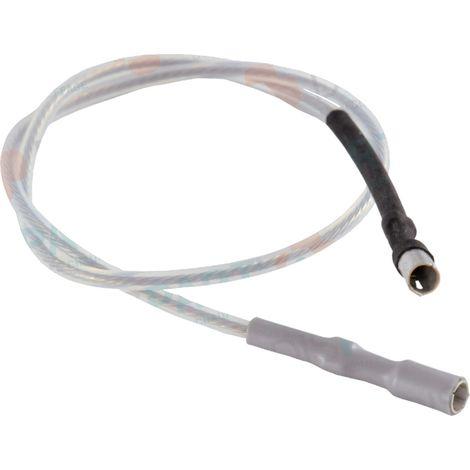 Cable d'allumage avec cosses Ø4x4 longueur 365mm En téflon blanc Pour brûleur DX4-C4/4R/6/8. Réf. 13018129
