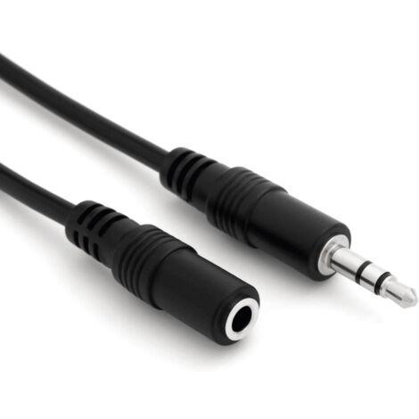 Cable de audio estereo JACK 3.5/M-JACK 3.5/H 15 M Negro
