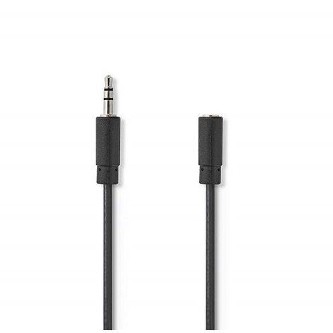 Cable de audio estereo JACK 3.5/M-JACK 3.5/H 20 M Negro