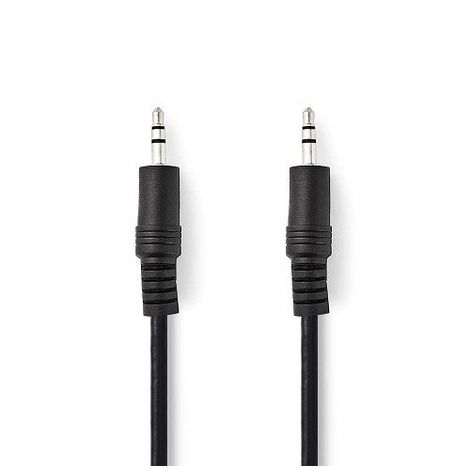 Cable de audio estereo jack 3.5 macho 1.5 M Negro