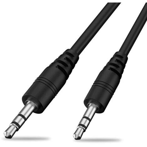 Cable de audio estereo jack 3.5 macho 3 M Negro