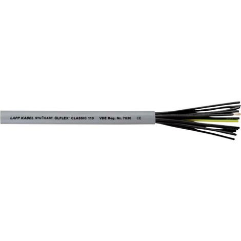 Câble de commande 4 x 0.75 mm² LAPP ÖLFLEX CLASSIC 110 4X0,75 1119804-100 ÖLFLEX® CLASSIC 110 gris 100 m