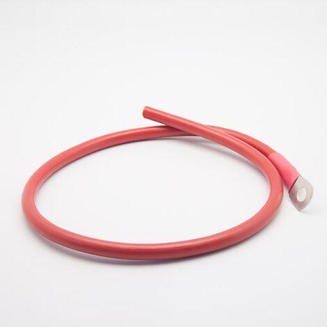Câble de connexion batterie - régulateur 10mm² 1 cosse M8 rouge (Longueur : 1 Mètre)