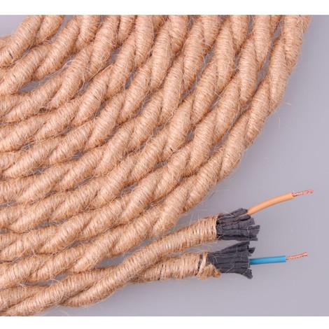 Cable De Cuerda De Yute Trenzado 2X0.75 Aprox Ø10Mm - NEOFERR