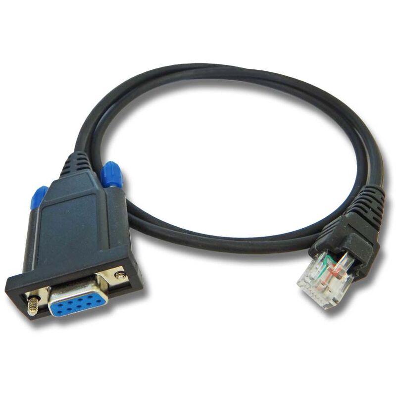 Câble de programmation RS232 vhbw pour radio Motorola M100, M200, M300, M400, M860, M1225, CDM750, CDM1250, CDM1550, Pro3100, Pro5100, Pro7100, LSC200