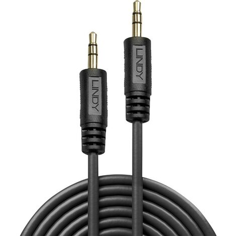 Câble de raccordement audio [1x Jack mâle 3.5 mm - 1x Jack mâle 3.5 mm] LINDY LINDY Premium Audiokabel 5m 35644 Jack 5 m noir 1 pc(s)