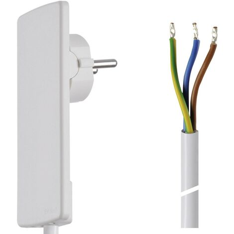 Câble de raccordement H05VV 3G 1,5 mm² blanc 1.50 m X95678