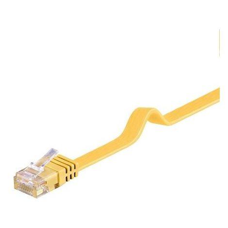 Cable de red plano UTP CAT6 0.50 M Amarillo