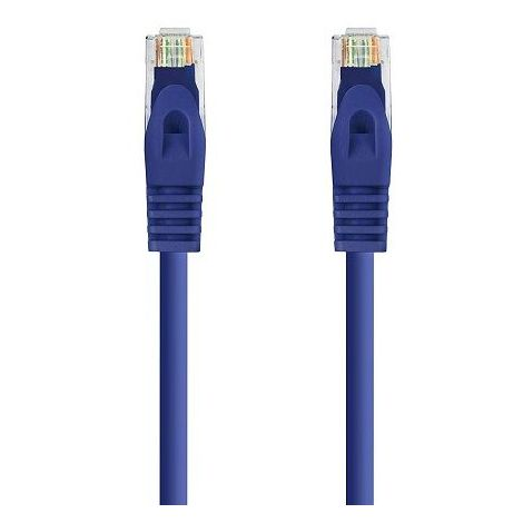 Cable de red UTP CAT6a 0.50 M Azul