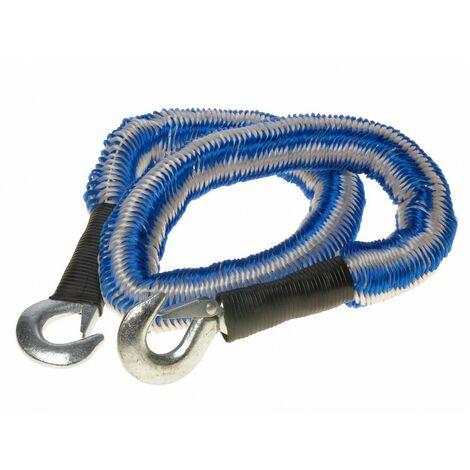 Cable De Remorquage Elastique Avec Crochet De Securite 2800 Kgs 1,5/4m