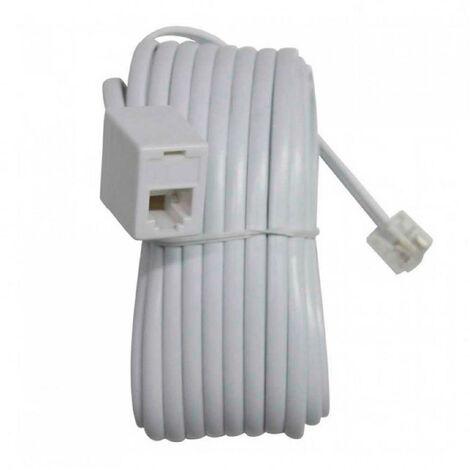 Cable de Teléfono Macho a Hembra RJ11 7,5m 7hSevenOn Elec
