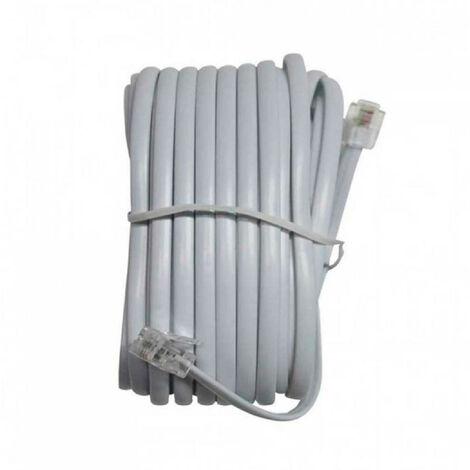 Cable de Teléfono Macho a Macho RJ11 7,5m 7hSevenOn Elec