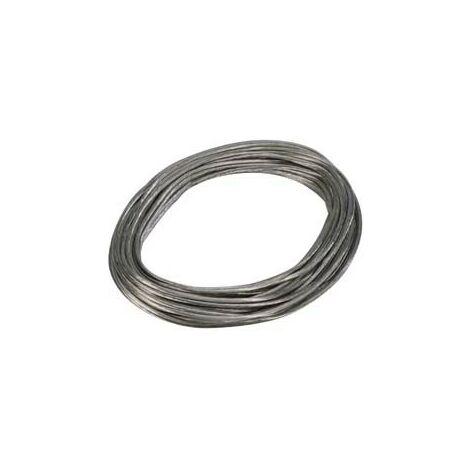 Câble de tension T.B.T pour luminaires suspendus - 20 mètres - Section 6 mm² - Gris clair