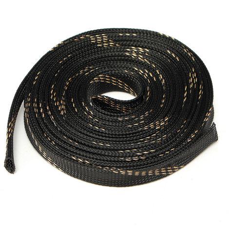 Cable de vaina de almacenamiento de PET trenzado extensible 5M 25mm