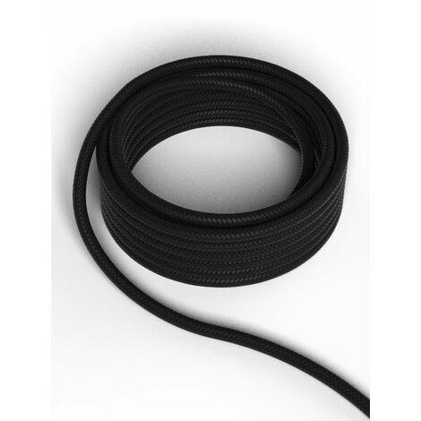 Cable decorativo textil CALEX 940212 2x0.75mm2 1.5MT Negro