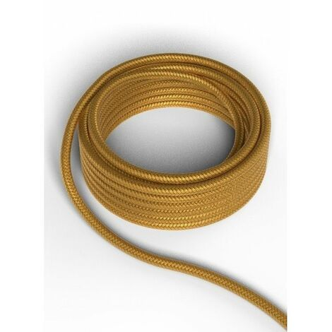Cable decorativo textil CALEX 940216 2x0.75mm2 1.5MT Oro