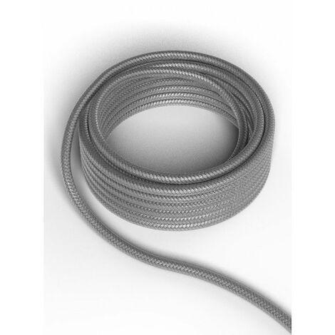 Cable decorativo textil CALEX 940220 2x0.75mm2 1.5MT Gris Metalizado