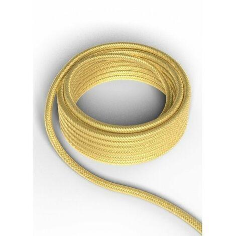 Cable decorativo textil CALEX 940222 2x0.75mm2 1.5MT Oro metalizado